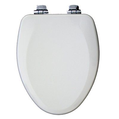 white wooden toilet seat soft close. Church White Wood Elongated Slow Close Feature Toilet Seat