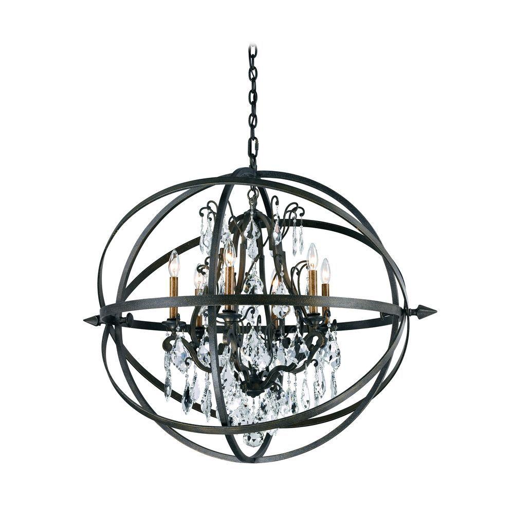 Modern crystal orb pendant chandelier light in bronze finish modern crystal orb pendant chandelier light in bronze finish at destination lighting aloadofball Choice Image