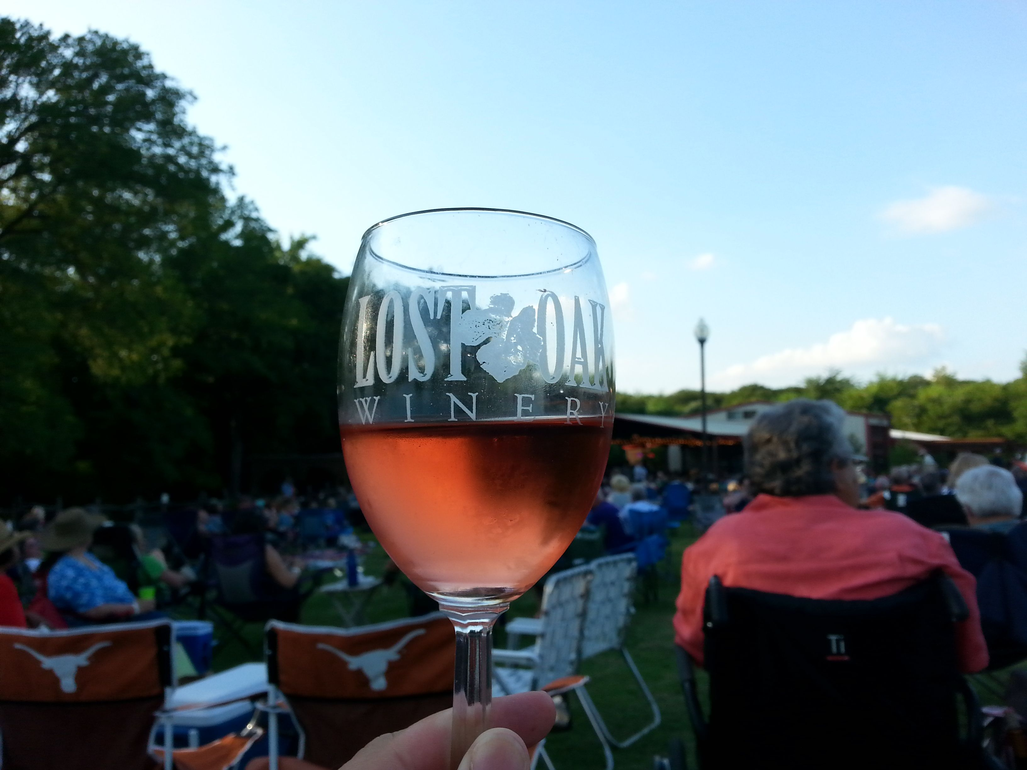 We enjoyed this Rosa Blanca while listening to the sounds of Motown at Lost Oak Winery. #txwine