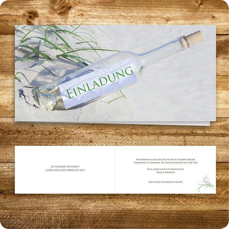 Fesselnd Einladungskarte Maritim, Hamburg, Einladung Für Hochzeit, Individuell  Designed By Die Kartenfrau