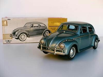 Orig 1960 S Volkswagen Vw Beetle Tin Toy Car Battery Operated 960 Bandai Japan Very Rarely Seen Pristine Model Cars Kits Classic Chevy Trucks Vintage Trucks