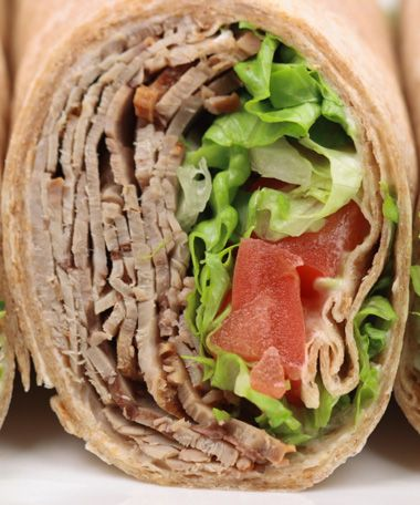 Whole Wheat Wraps aren't as healthy as they sound. Make sure they have at least 4 grams of fiber!