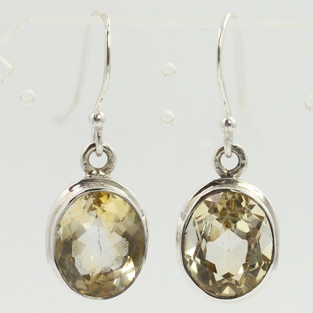 925 Silver ELEGANT Earrings GENUINE LAPIS /& Other Gemstones Variation To Choose
