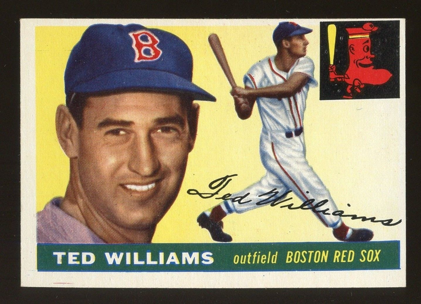 1955 topps 2 ted williams boston red sox hof exmt