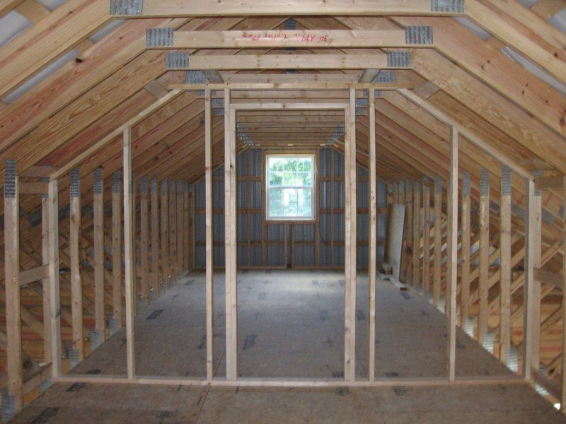 Above Garage Living Space With 4 By 12 Roof Pitch Garage 24 X 32 X 10 Attic Renovation Attic Closet Attic Remodel