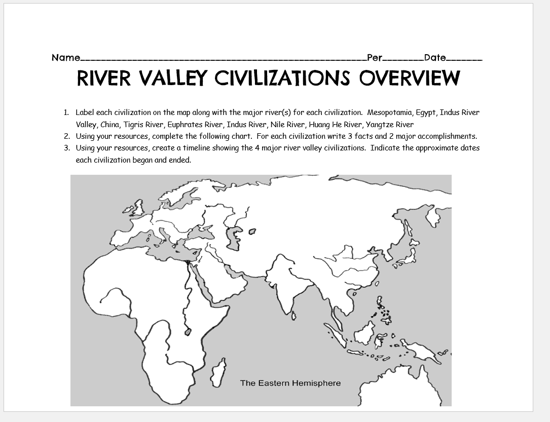 This Lesson Provides A Great Introduction To The 4 River