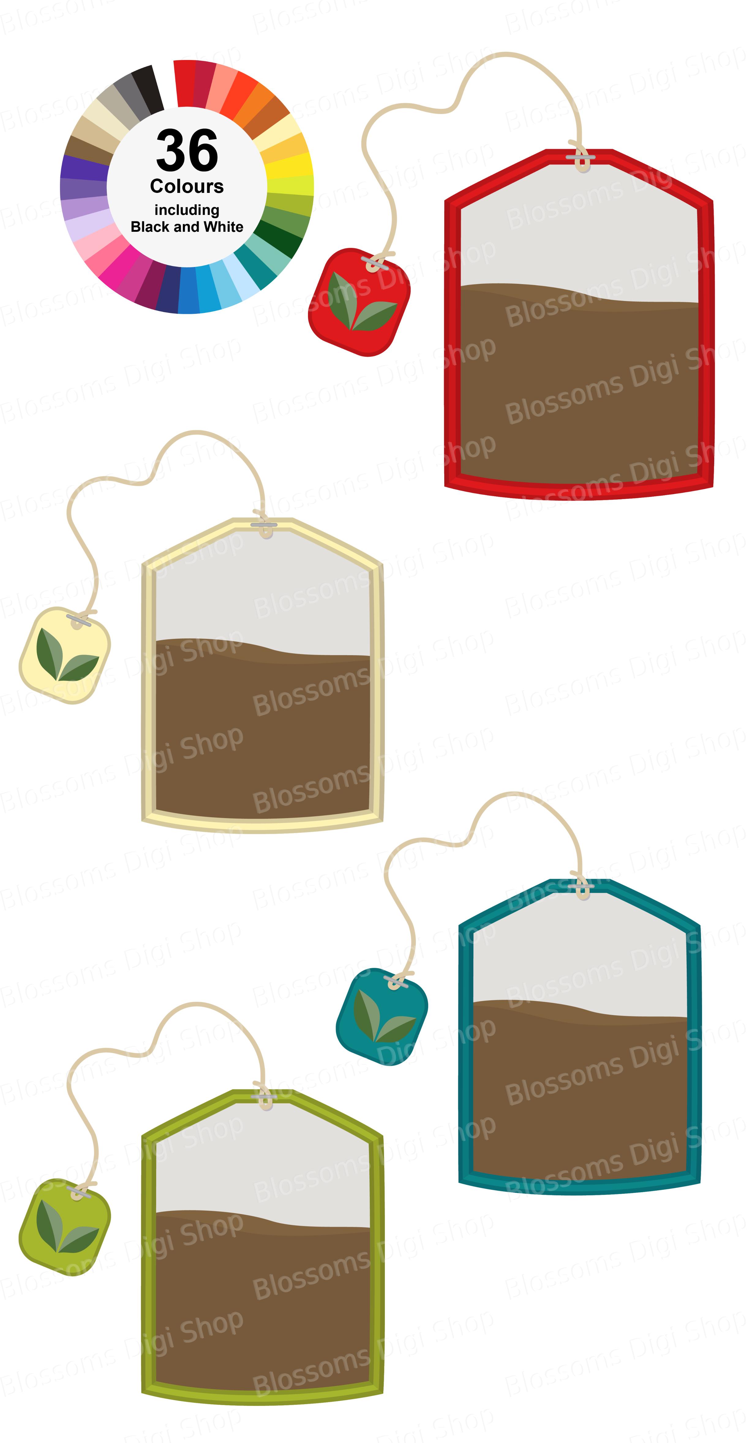 Tea Bag Clipart Teabag Png Digital Download Planner Etsy Clip Art Tea Journal Etsy Download