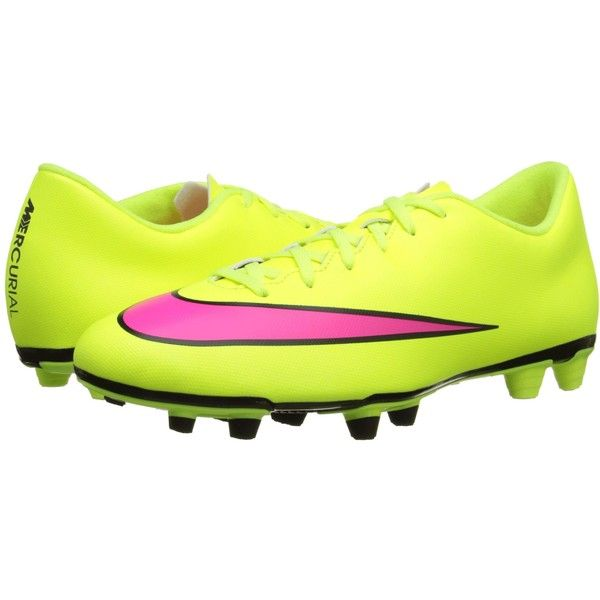 Mens Shoes Nike Mercurial Vortex II FG Volt Black Hyper Pink