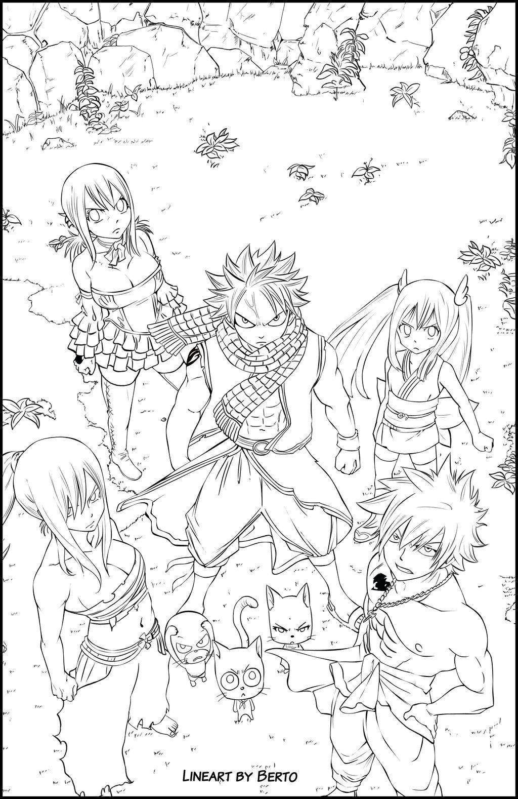Fairy Tail Dream Team Line By Diabolumberto