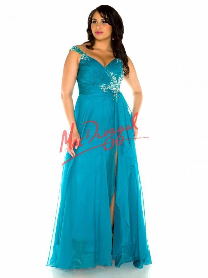 Peacock Blue Plus Size Dresses