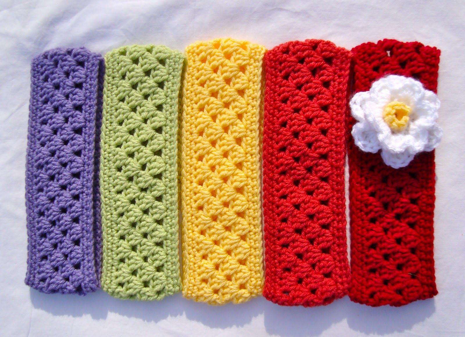 Free Crochet Flower Headband Ear Warmer Pattern | Crochet ...