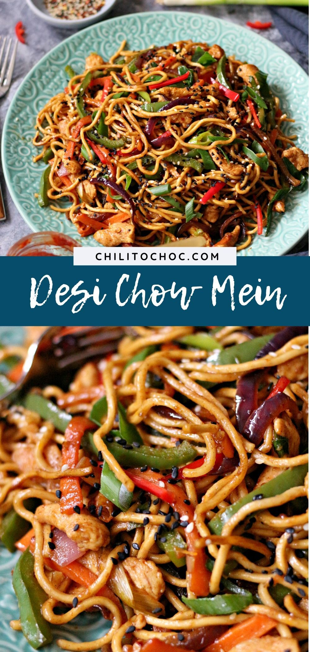 A spin on the classic Chinese Chow Mein, this desi-style Chow Mein is jam-packed with bold flavours and has just the right amount of heat our Pakistani tastebuds love. ------ Recipe on chilitochoc.com ------ #foodphotography #foodstyling #pakistanifoodblogger #indianfood