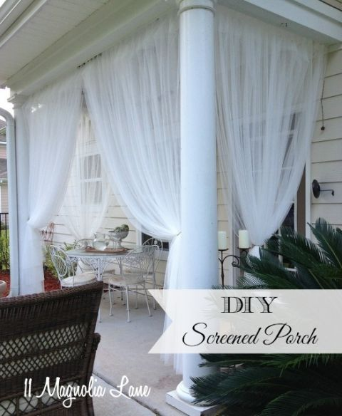 Update On My Diy Screened Porch Sheer Curtains 18 Months Later