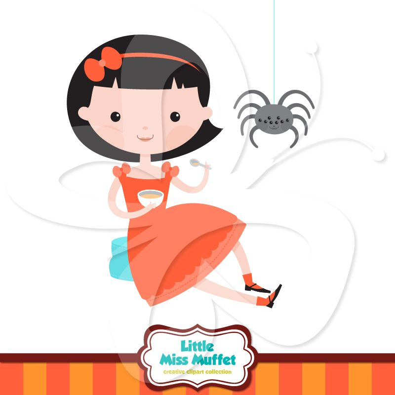 sweet little miss muffet clip art along with spider clipart of rh pinterest com nursery rhyme clipart free nursery rhyme characters clipart