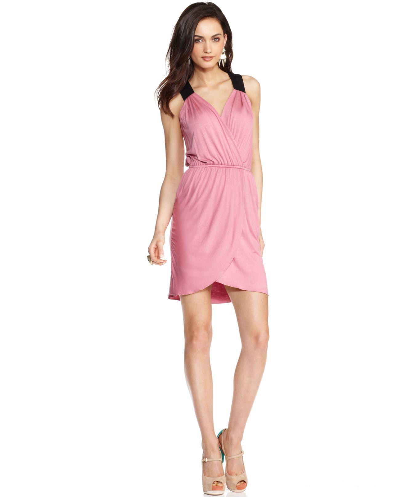 Bcbgeneration Dress Sleeveless V Neck Crisscross Sheath Womens