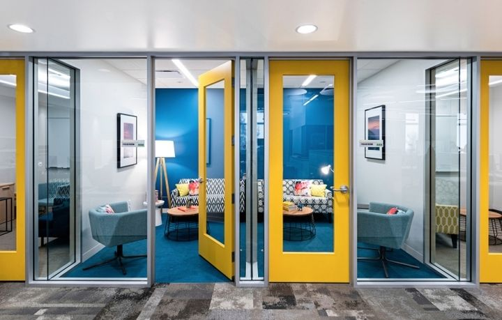 Cpp The Myers Briggs Assessment Publisher Headquarters By Design Blitz Sunnyvale Calif Office Interior Design Corporate Office Design Modern Office Design