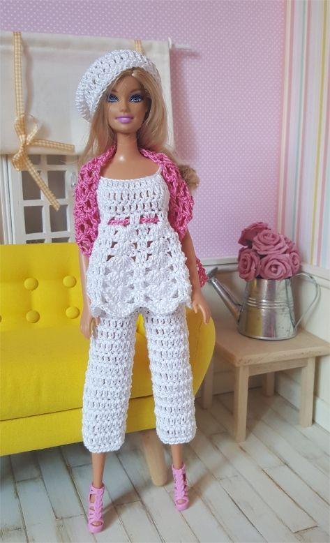 Image result for free crochet doll costumes for barbie dolls ...