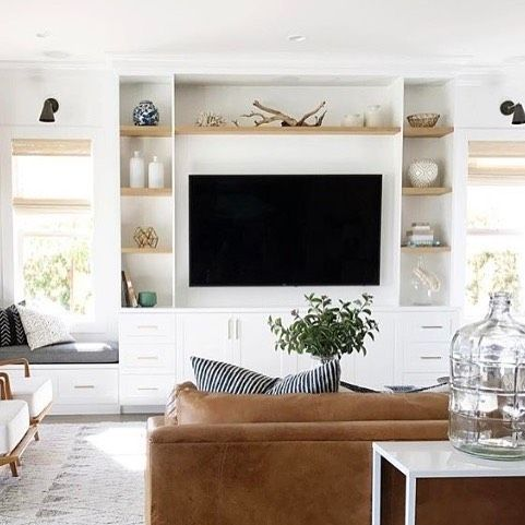 Photo of I share some inspiration for a built-in entertainment center and help a friend ….
