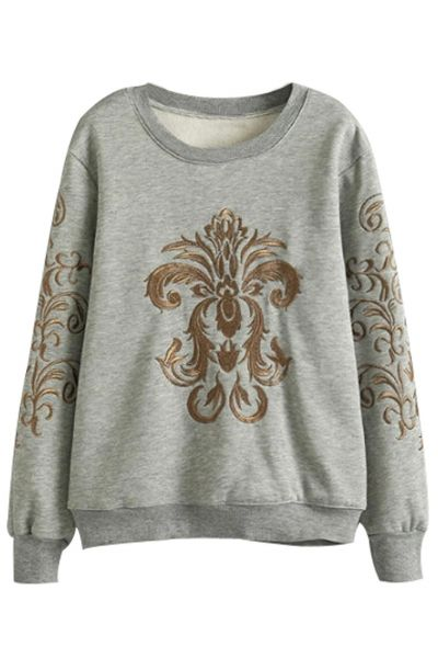 Vintage Floral Print Sweater