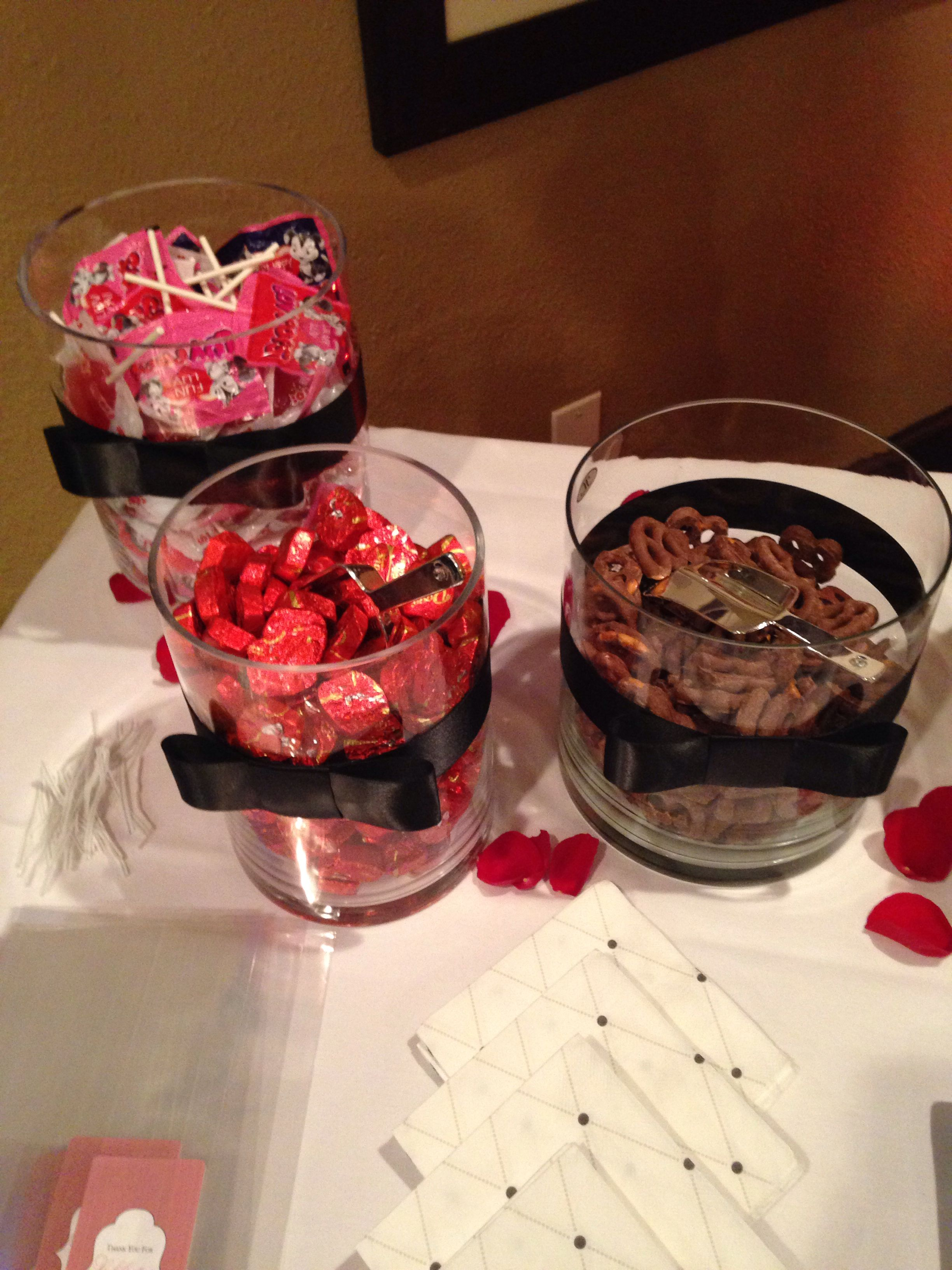 Candy Table Red, Black and white color scheme 65th