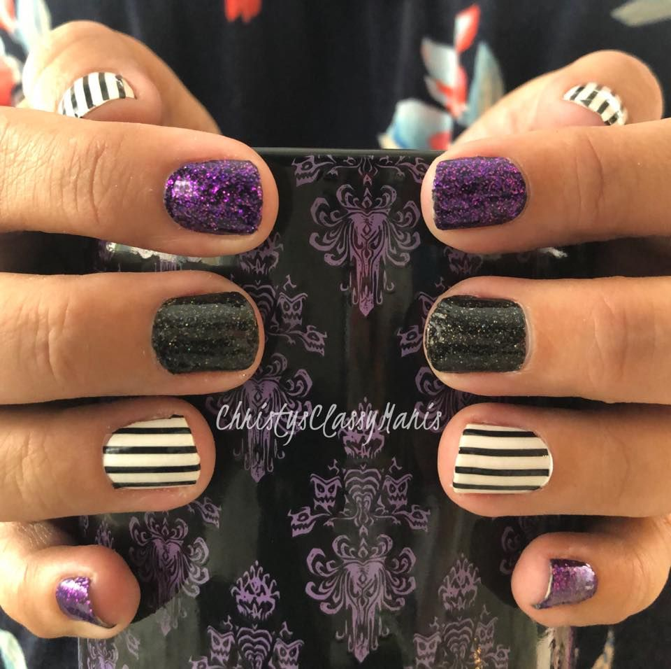 Halloween Color Street 2020 Combos Color Street Combo Manicure | Color street nails, Halloween nails
