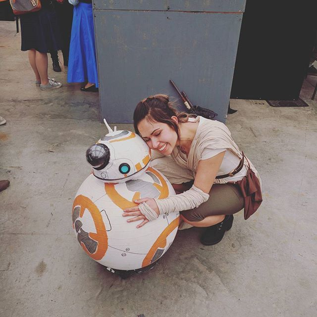 Pin for Later: 34 Crazy Cool Star Wars Costume Ideas Rey and BB-8 You can try making your own BB-8!