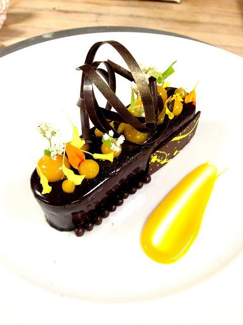 plated chocolate desserts   Mango Chocolate Bar!!!   Flickr - Photo Sharing!   Plated desserts