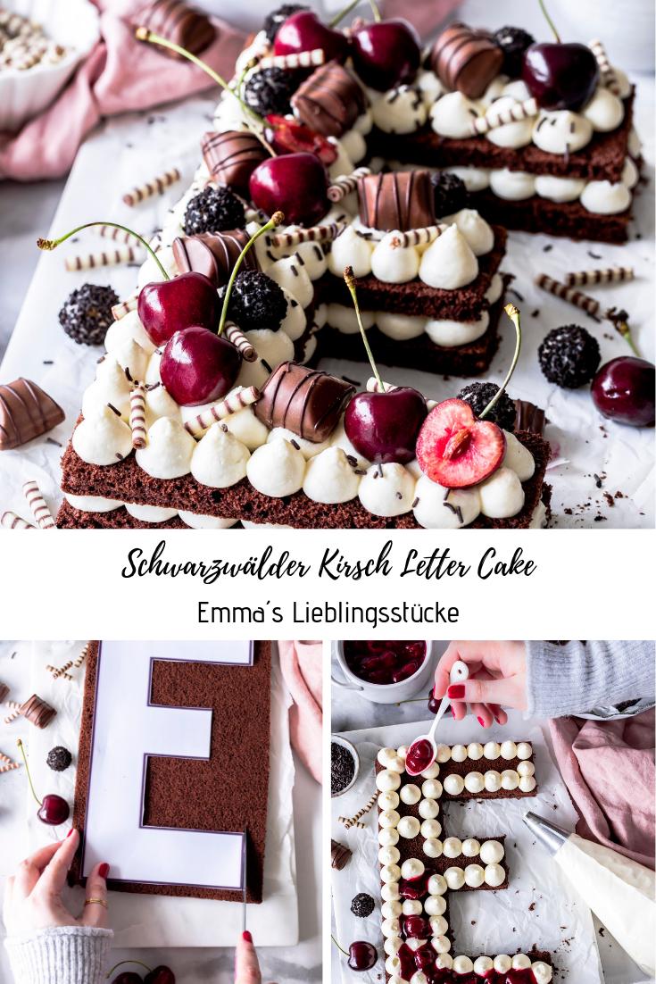Schwarzwälder Kirsch Letter Cake - Emma's Lieblingsstücke