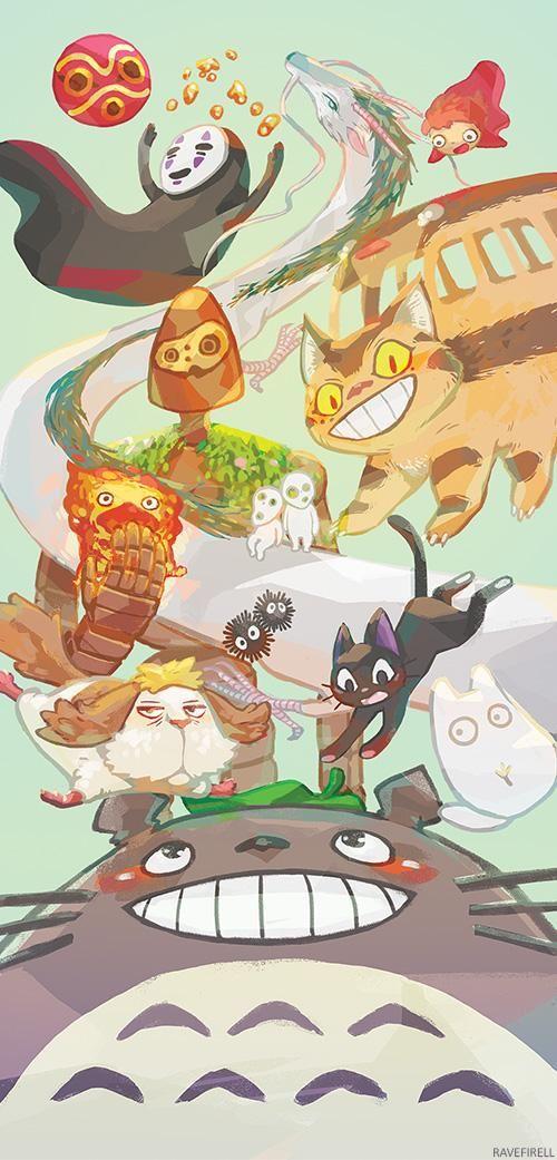 Ghibli Companions by ravefirell on DeviantArt