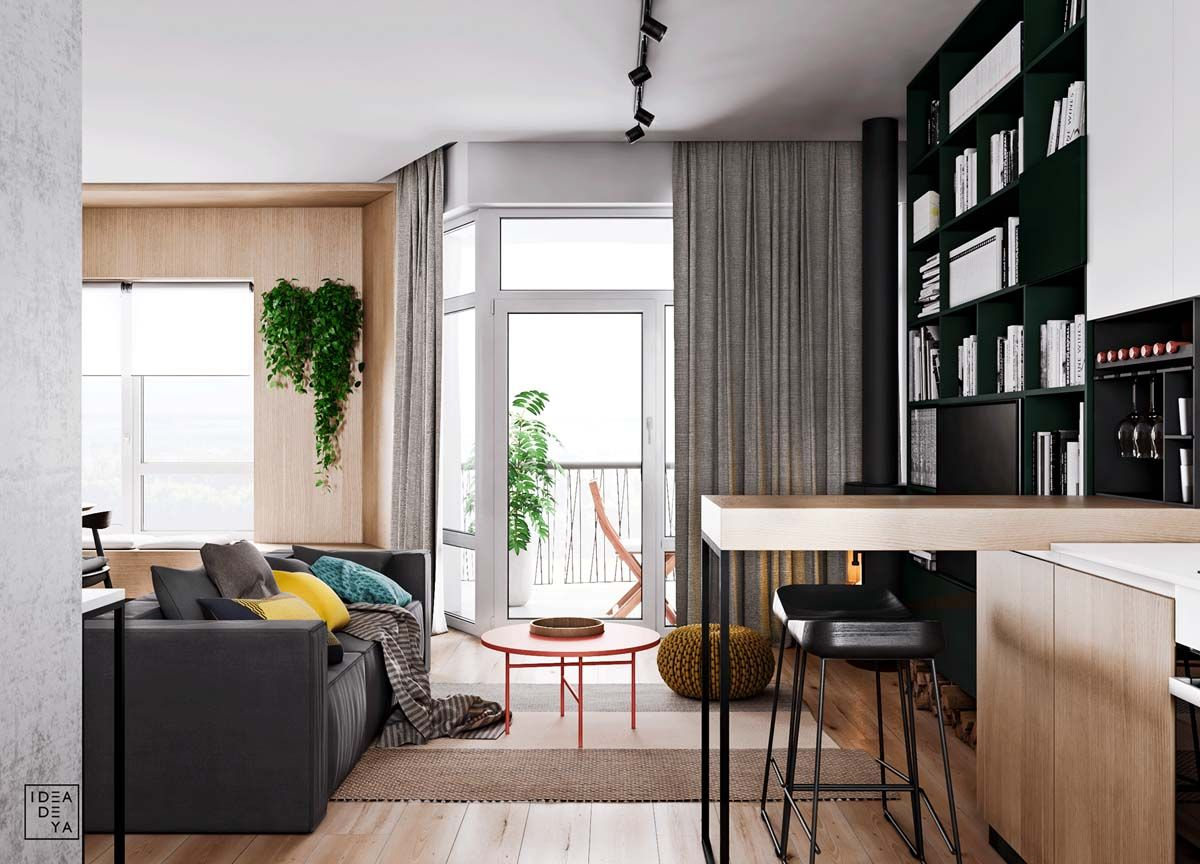 Unusual Home Layout With Creative Accent Colours 4 House