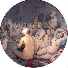 """""""El baño turco""""(1862) de Dominique Ingres Museo: Museo del Louvre, París, Francia."""