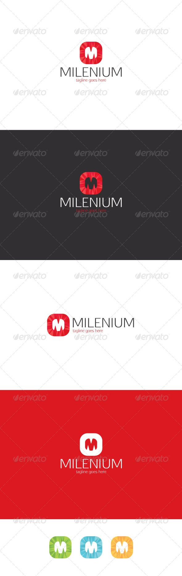 Milenium Logo — Letter M — Photoshop PSD #color #market • Available here → https://graphicriver.net/item/milenium-logo-letter-m/8374157?ref=pxcr