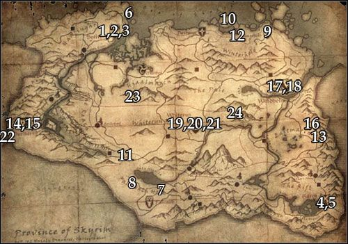 Stones Of Barenziah Map skyrim locations of stones of barenziah map   Google Search | like