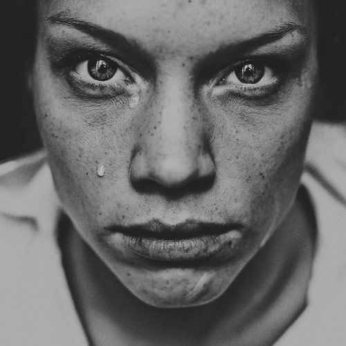 Emotions black white portrait photography by david terrazas