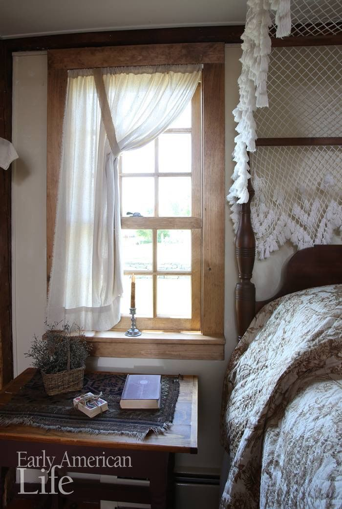 Curtains Primitive Country Bedrooms