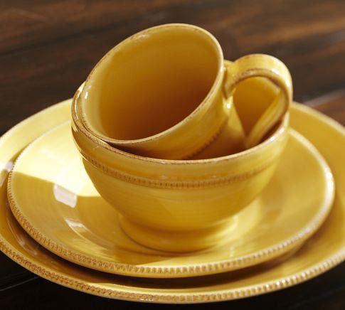 Gabriella Dinnerware - Gold | Pottery Barn - and every new kitchen needs new dinnerware!  ) & Gabriella Dinnerware - Gold | Pottery Barn - and every new kitchen ...