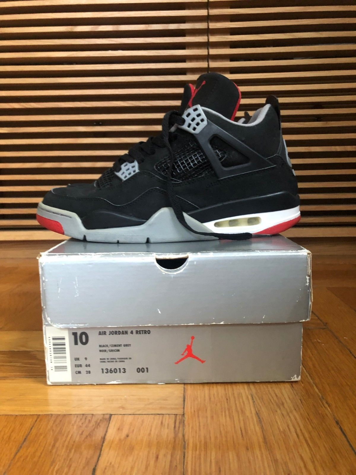 official photos 3ab9c c3f94 Nike Air Jordan 4 Retro 1999 Black Cement Grey Size 10 Vintage