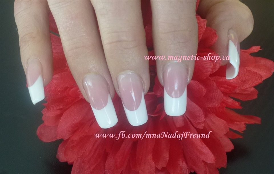 Long French White - Nail Art Gallery | Nails pink and whites ...