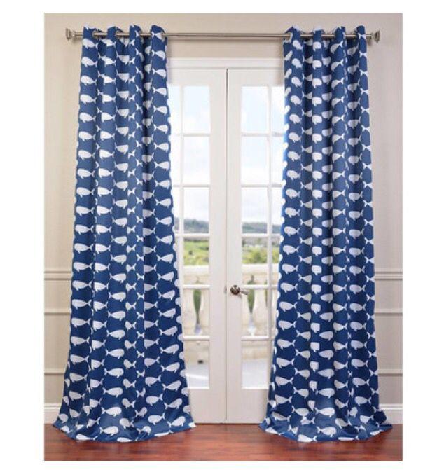 Cute Whale Curtains.