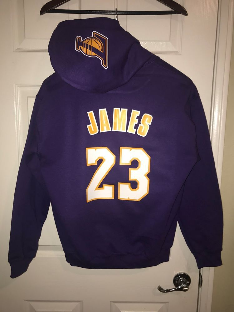 c4f60d3a7cbc LA Los Angeles Lakers Lebron James Away Jersey Hoodie Hoody Hooded  Sweatshirt #sports #basketball #trending