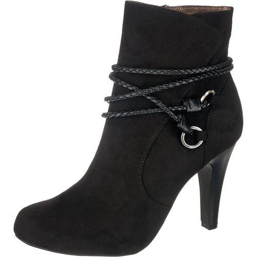 Tamaris Damen Stiefeletten Carradi Schwarz Modische Tamaris Carradi Stiefeletten Aus Weich Angerautem Echtleder Innen Besitz Heels Gorgeous Shoes Shoes