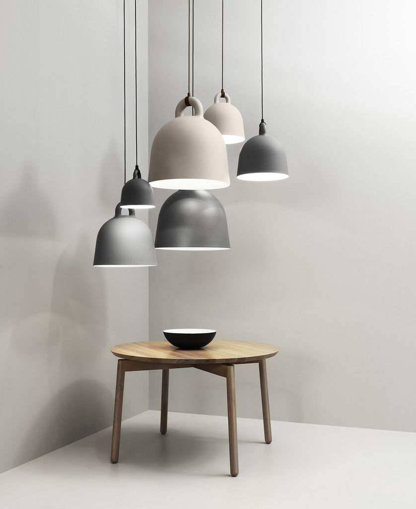 Schön Normann Copenhagen Bell Lamps In Sand Or Grey And X Small, Small, Medium