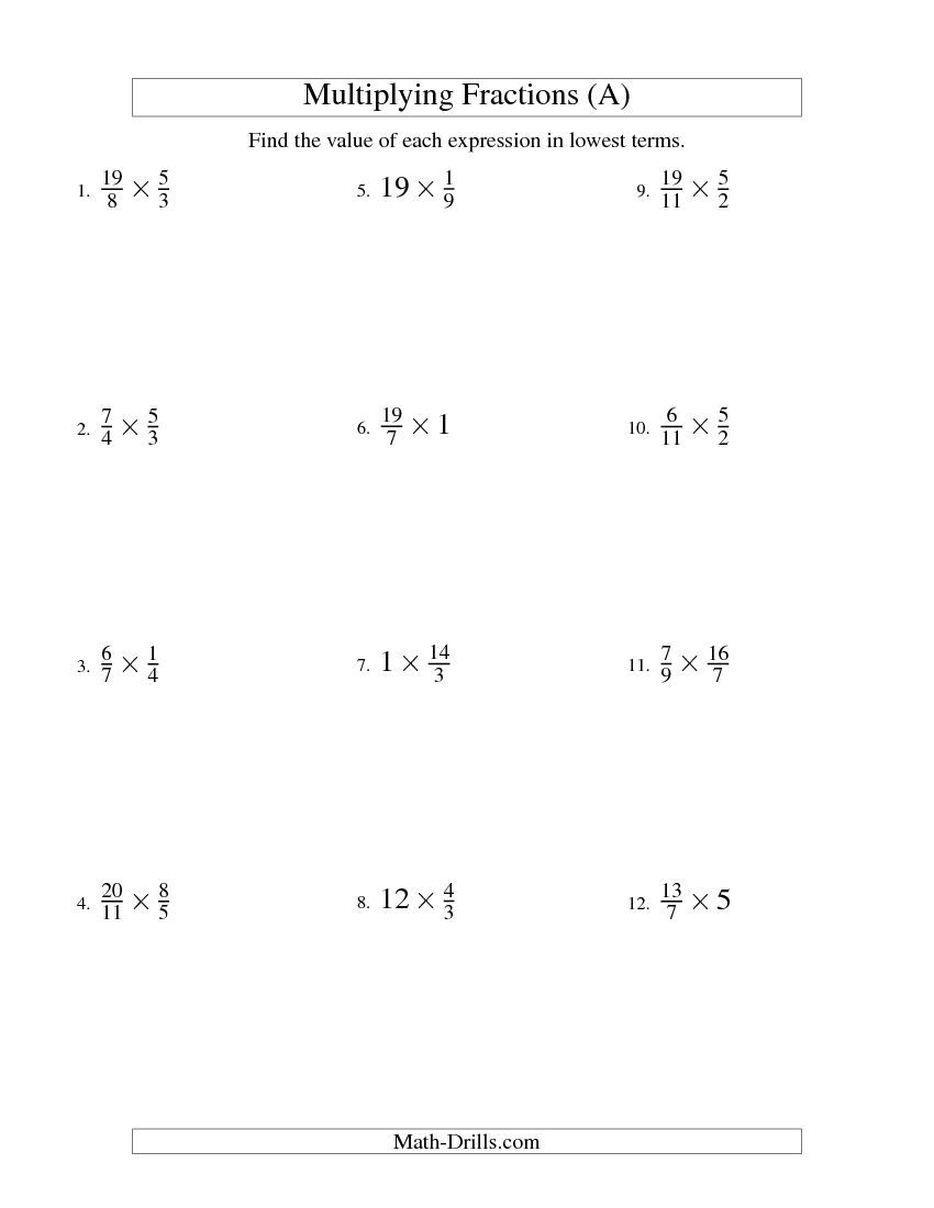 Multiply Fractions By Whole Numbers Worksheets Davezan – Multiply Fractions and Whole Numbers Worksheet