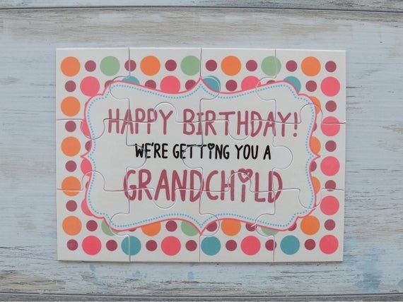 Pregnancy Announcement to Grandparents, Pregnancy Reveal Puzzle, New Grandma Birthday Gift, Grandpa Birthday Gift, Going To Be Granparents