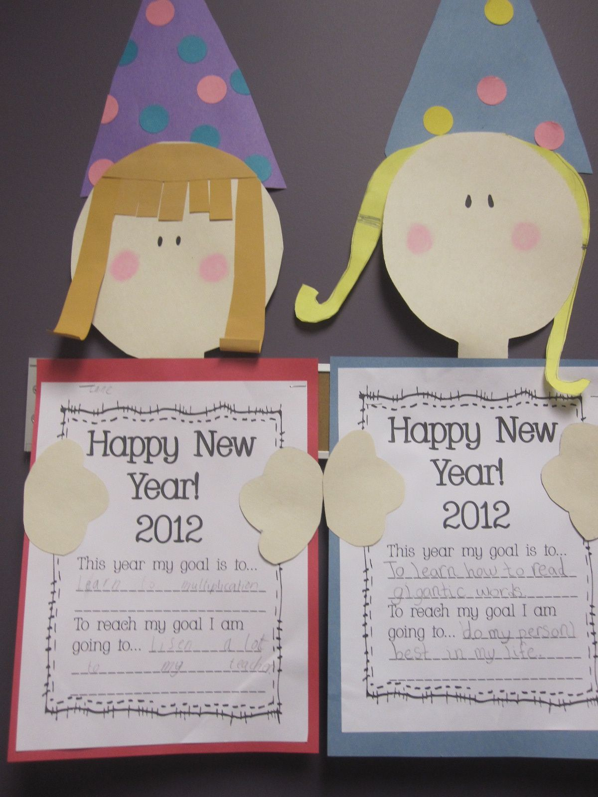 Happy New Year classroom craft This ould be great for