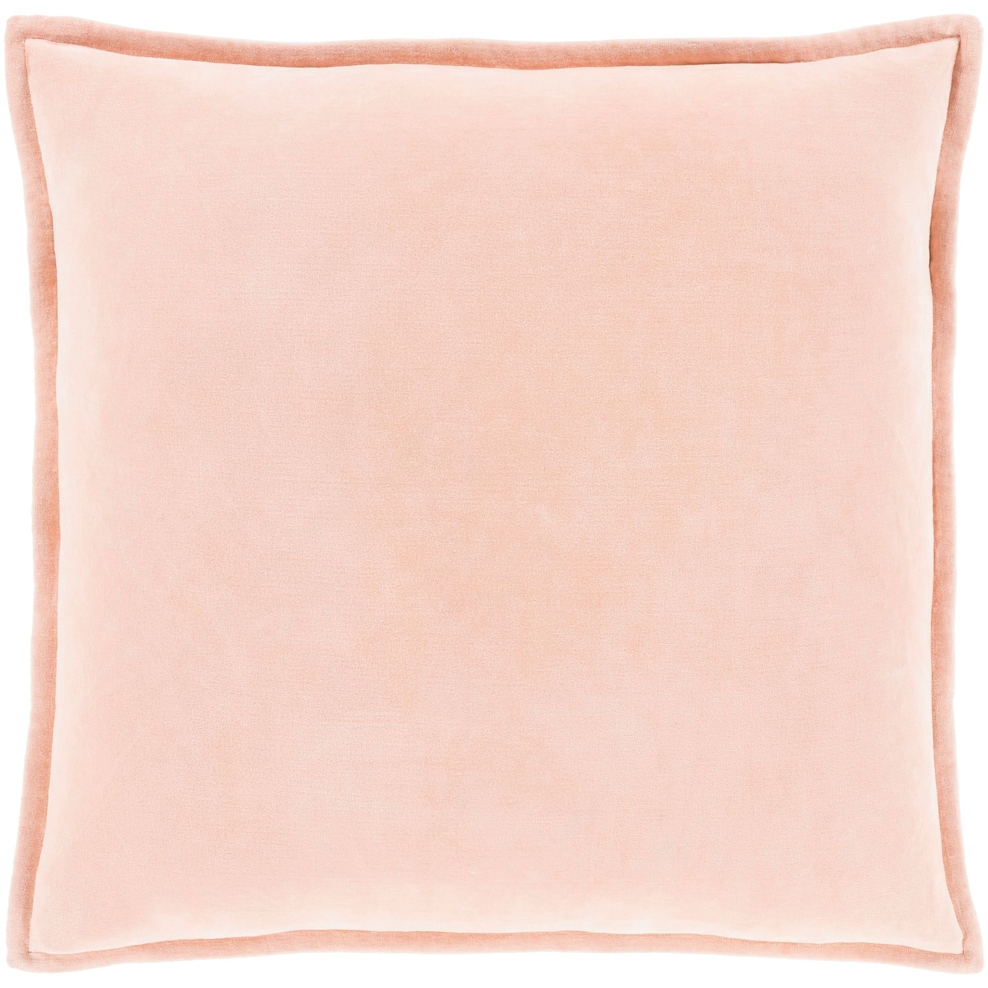 Vianne Solid Peach Pillow Feather Down Fill 20 X 20