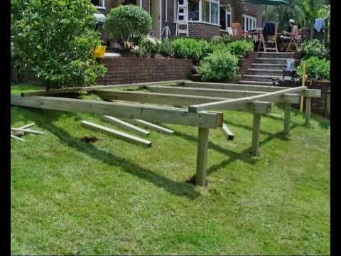 how to build a deck part 05 building the subframe how. Black Bedroom Furniture Sets. Home Design Ideas