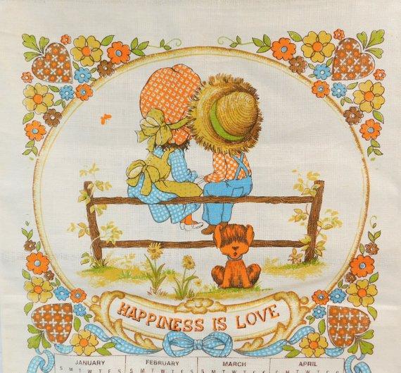 Vintage Linen Tea Towel 1979 Calendar Towel Vintage Linens