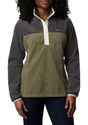 Columbia Benton Springs™ Half Snap Pullover. Crafted in cozy fleece, the Benton Springs™ half snap pullover by Columbia shields you from the elements while you take on any adventure.