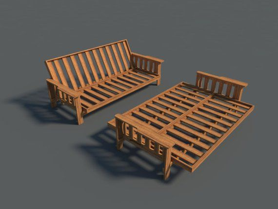 Futon Sofa Bed Plans Diy Lounger Couch Sleeper Furniture Building Woodworking Futon Bed Frames